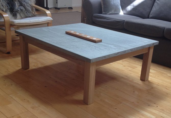 Oak & Galvanized top coffee table